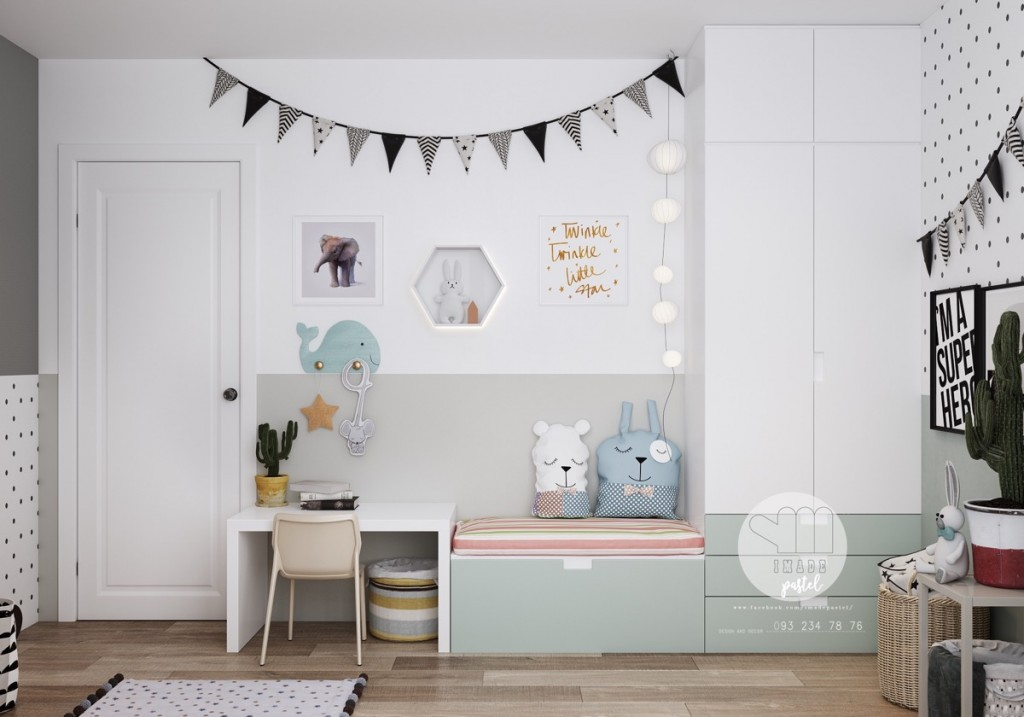 white-and-gray-kids-room
